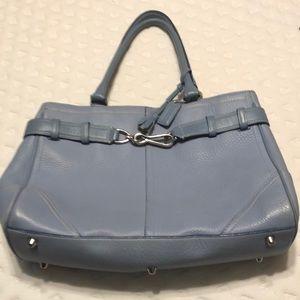 Coach light blue bag
